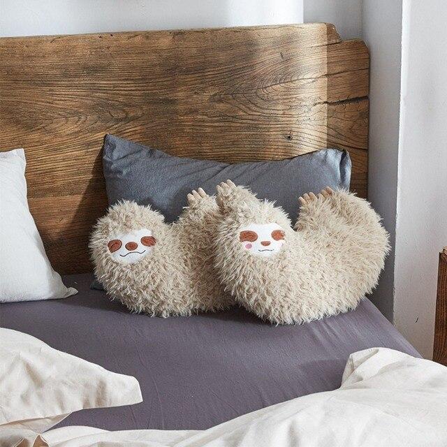 1 pc Ins simulação animal preguiça travesseiro brinquedo de pelúcia crianças boneca bonito expressão criativa preguiçoso sofá travesseiro travesseiro quarto