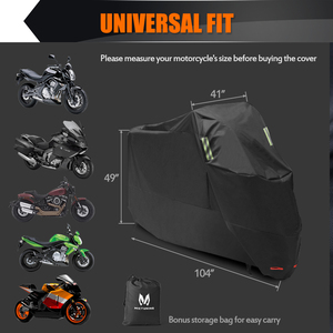 """Image 5 - MICTUNING Universal Motorcycle Cover 210D Oxford Tear Proof Anti thief Lock Hole for 104"""" XXL Motorcycles for Yamaha for Harley"""