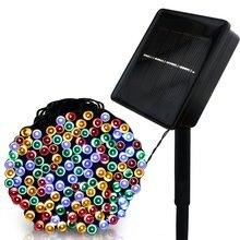 LED F5 50/100/200/500 Outdoor Lampada Solare LED Luci Leggiadramente Della Stringa di Festa Di Natale Ghirlande Solare del Giardino luci impermeabili