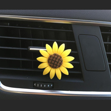 CDCOTN 2PCS Air Freshener Sun Flower conditioning Outlet Perfume clip Car Interior Decoration Accessories Styling
