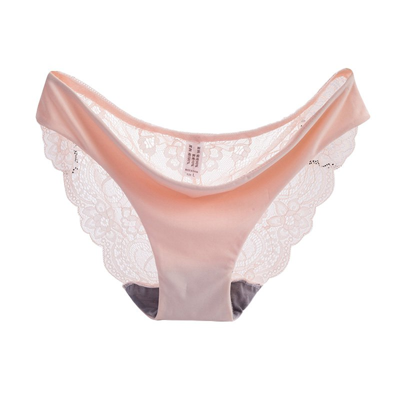<font><b>Sexy</b></font> Women Black Pink <font><b>Noir</b></font> Lace Briefs Pants Lingerie Knickers <font><b>Bikini</b></font> Briefs Women See-through Underwears Lace Seamless Panties image