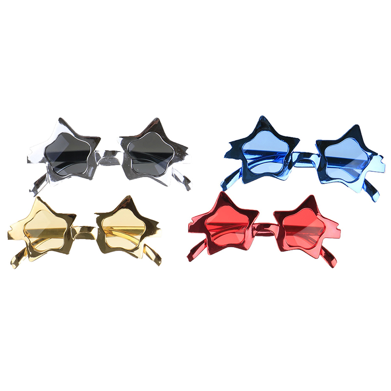 Shiny Star Metallic Glasses Photobooth Decorated Photo Booth Props Party Favors Birthday Event Festive Supplies Decoration
