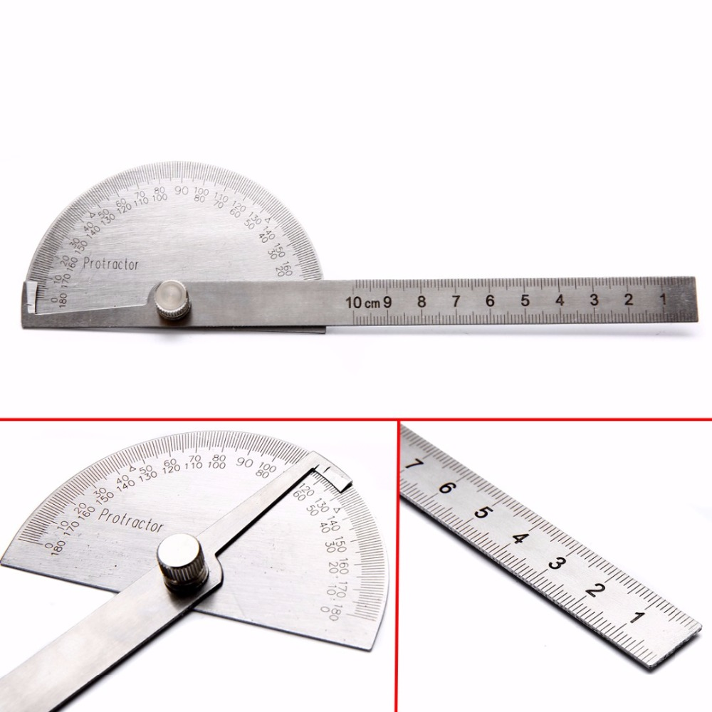 1Pc Stainless Steel 180 Degree Protractor Angle Finder Measuring Ruler Tools 300mm multifunctional combination square ruler stainless steel horizontal removable square ruler angle square tools metal ruler
