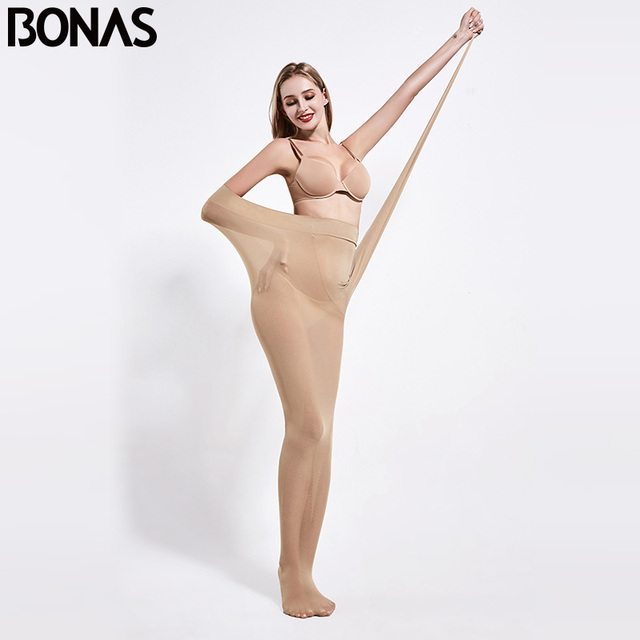 BONAS 200D Tights Autumn Sexy Velvet Seamless Pantyhose Women Warm Elasticity Spandex Black Resistant 100KG Female Stockings 1
