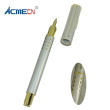 ACMECN Silver & Gold Metal Pen Roller Ball Liquid Ink Refill Retro Classic with 24 hole Design Luxury