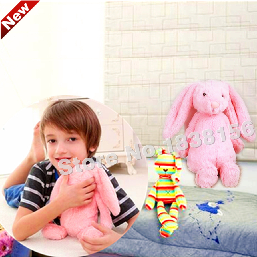 Russian Toys For Children Baby Girls Kawaii Educational Toy Infant Toddler boys Plush Rabbit Dolls Pink