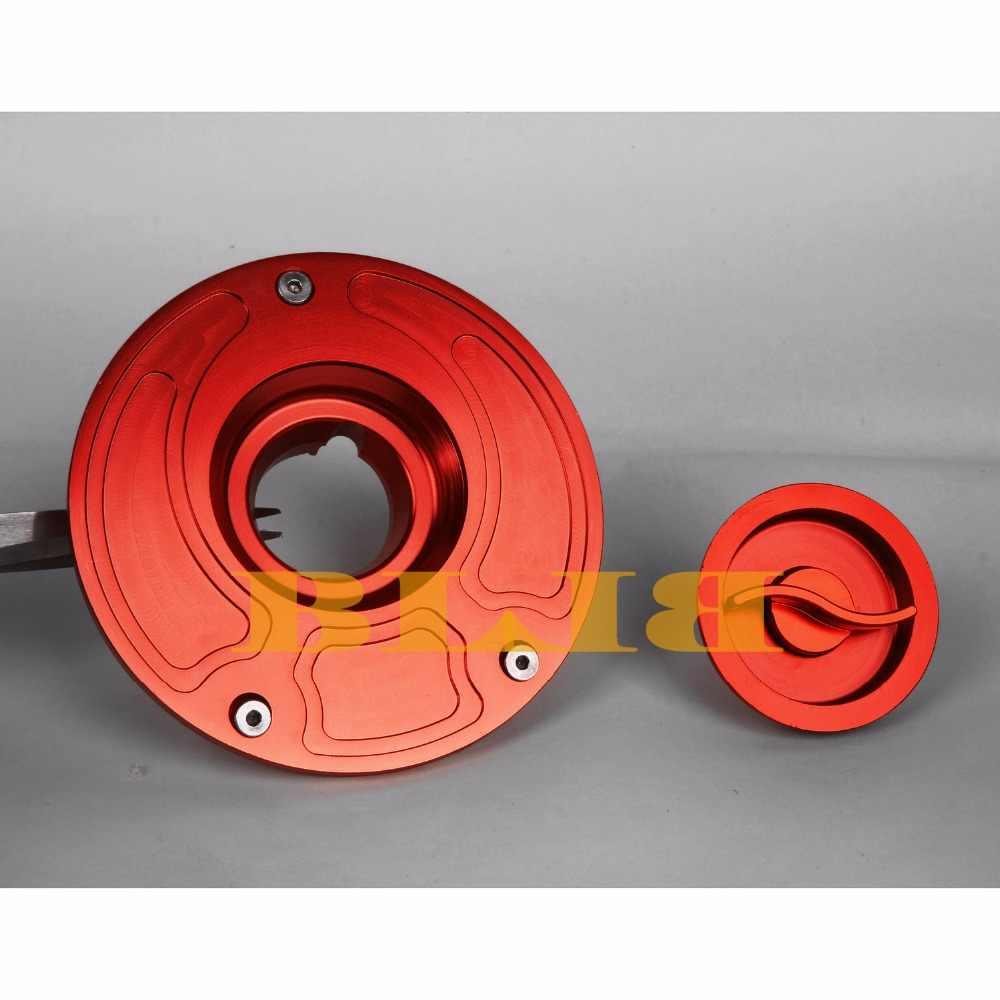 CNC Billet Tangki Bahan Bakar Penutup Untuk Honda CB 900F Hornet 919 900 CBR250RR CBR600RR RVF VFR 400 Sepeda Motor Topi Aksesoris Minyak Gas Cap