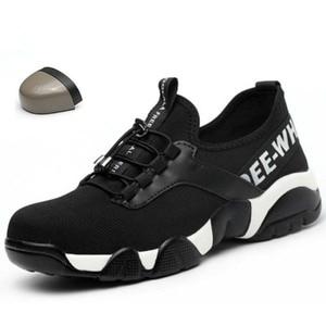 Image 1 - קיץ 2020 גברים פלדה הבוהן עבודה בטיחות נעליים קל משקל לנשימה רעיוני מקרית Sneaker למנוע פירסינג מגן boots4