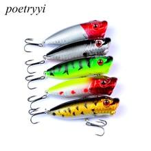 POETRYYI 1pcs 7.3cm 11g Popper Fishing Lure isca artificial fishing bait Crankbait  6# high carbon steel hook Lures 30
