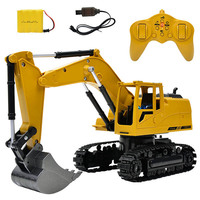 RC Simulation Excavator Toys With Music Children's Boys RC Truck Toys Gifts RC Engineering Car Tractor