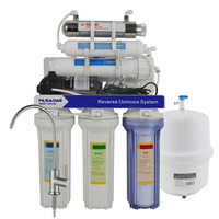 6 Stage Under Sink Reverse Osmosis Drinking Water Filtration System 75GPD with 6W UV sterilizer/Power Supply 200 240V/EU Plug