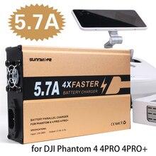 SunnyLife 4in1 Зарядное устройство Батарея и пульт дистанционного управления зарядки 5.7A большой ток для DJI Phantom 4 4PRO 4PRO +