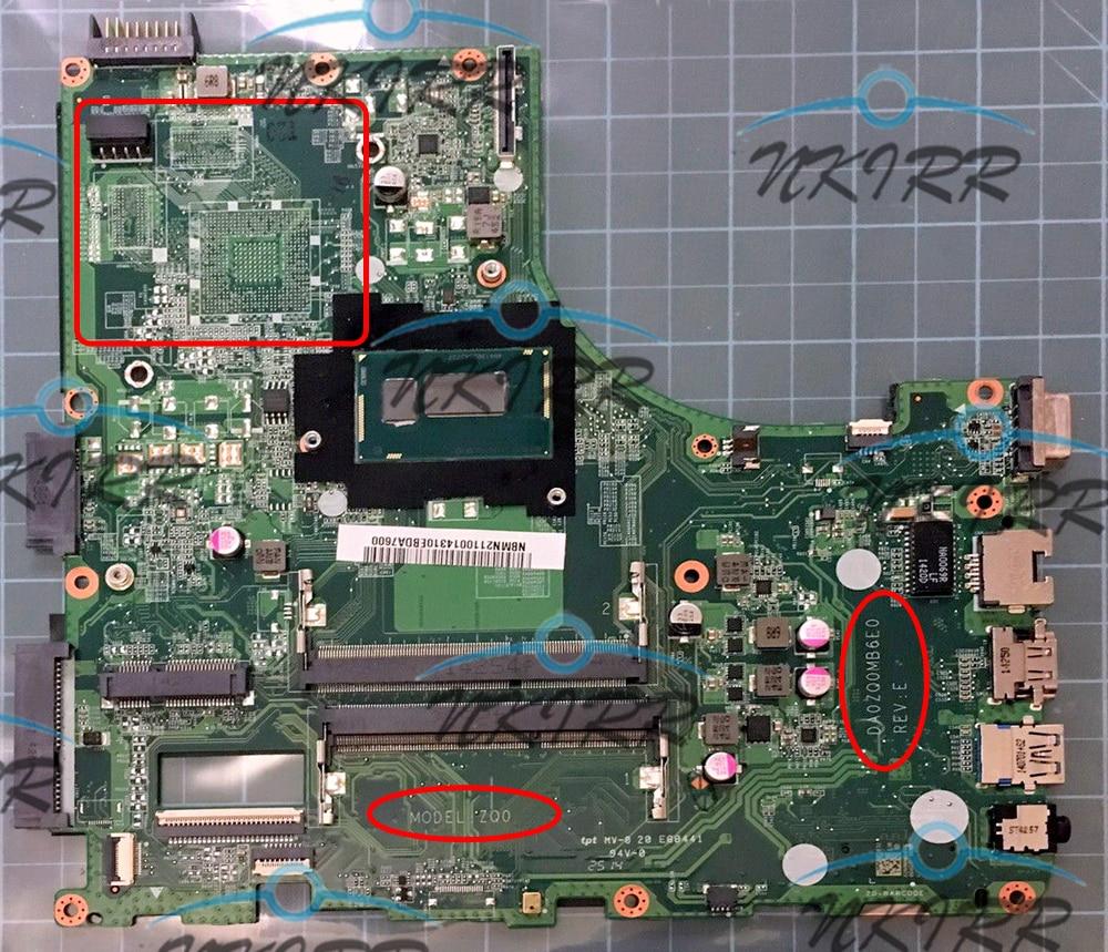 DA0ZQ0MB6E0 ZQ0 2957U CPU DDR3 Motherboard For Acer Aspire E5-471 E5-471G V3-472 V3-472P