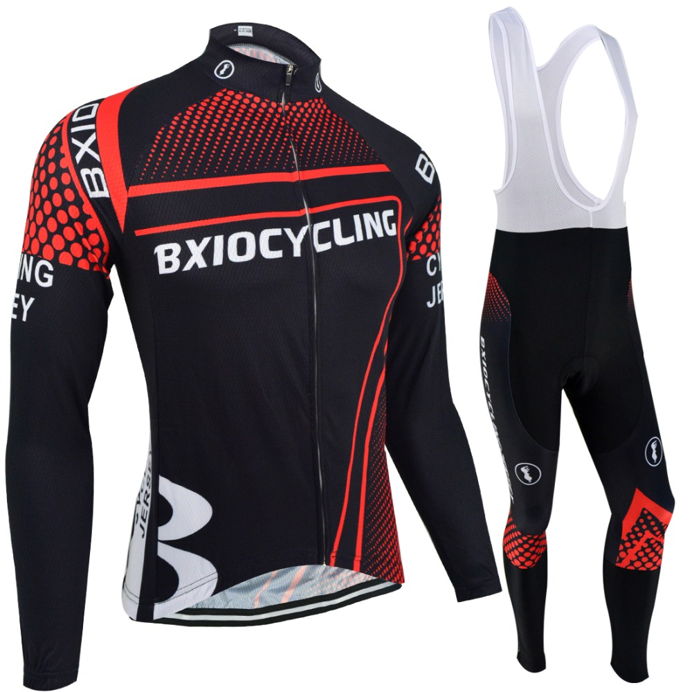 Bxio Winter Thermal Fleece Cycling Clothing Pro Tour Bike Jersey Full Zipper Sport Wear Roupas De Ciclismo BX-0108RDR087 crush hong kong