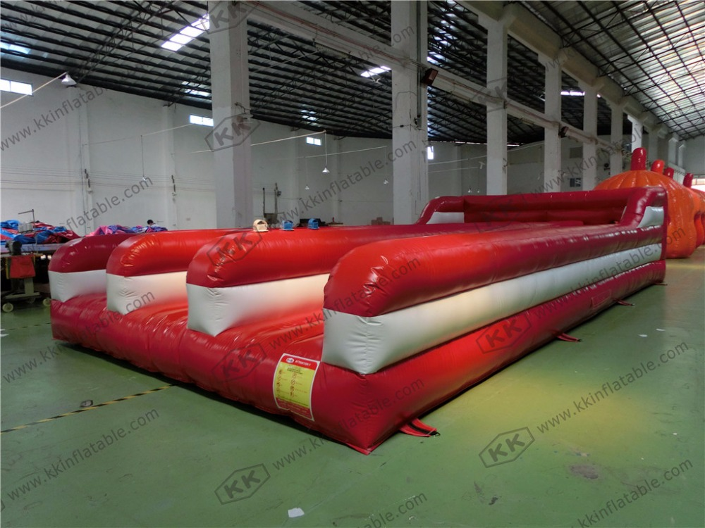 customized inflatable bungee run race inflatable triple bungee run interactive sport dali epicon 6 gloss black