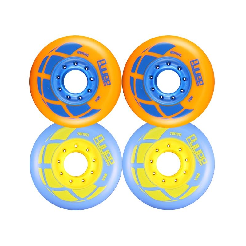 JEERKOOL Skates Roller 88A 76/80mm Inline Braking Slalom Free Skating Sliding Roller For SEBA Powerslide Patines Wheel LZ26