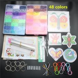5mm 48 Colors 9200pcs EVA Hama Beads Pegboard Toy DIY Hama Beads Set Educational Tangram Puzzle Kids Toys Brinquedos Template