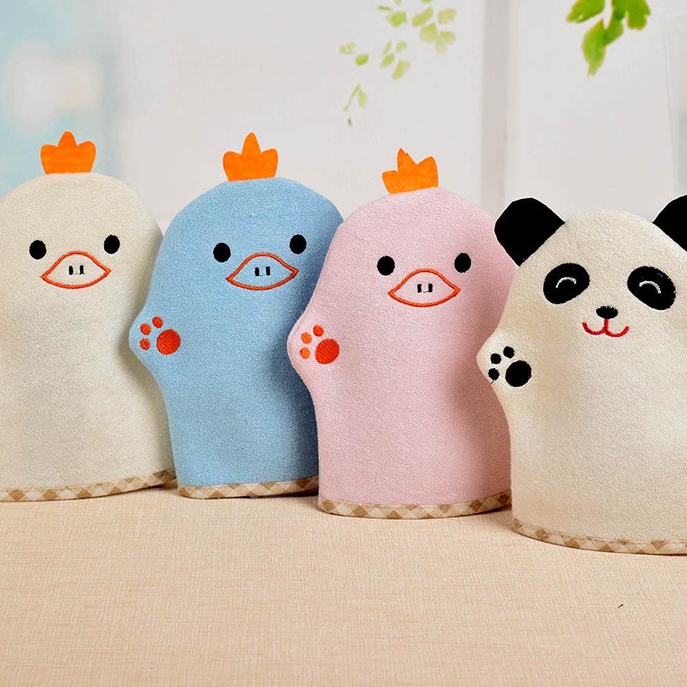Bath Gloves Cleaning Supply Cute Baby Bath Brushes Sponge Ca