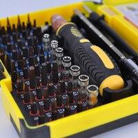 Intercambiable magnético 55 en 1 multiusos precisión juego de destornilladores herramientas de reparación para el teléfono móvil de la PC