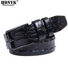 New Arrivel Alligator Pattern Leather Mens Belts Luxury 100% Cowhide Brand Strap High Quality Designer Men Free Shipping