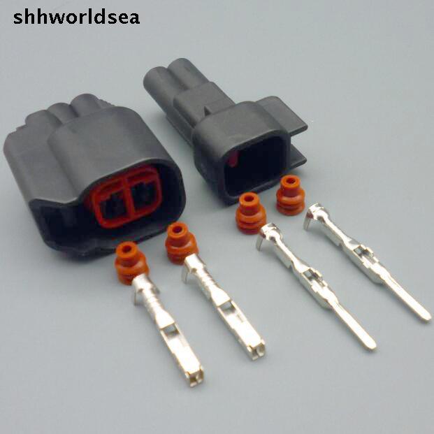 Shhworldsea 5/30/100 sets männlich-weibliche ev6 ev14 USCAR Fuel Injector Zopf Anschlüsse sr20det rb30 GTR SCHNELLE ls2 ls3 universal