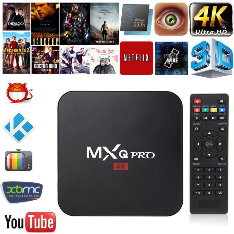MX PRO Android 7.1 TV Box Amlogic S905W Quad Core 1GB/8GB H. 265 4K MXQ PRO 2.4GHz WiFi Media Player Set top box стоимость