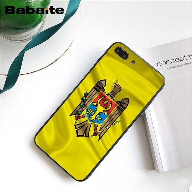 Babaite Moldova Bandiera Cassa Del Telefono per iphone 11 Pro 11Pro Max 5 5Sx 6 7 7plus 8 8 Più X XS MAX XR