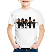 Children Fashion Print NWA Straight Outta Compton T-shirts Kids Kpop Summer Clothes Casual Tops Baby Tees For Boys/Girls,HKP558 цена 2017