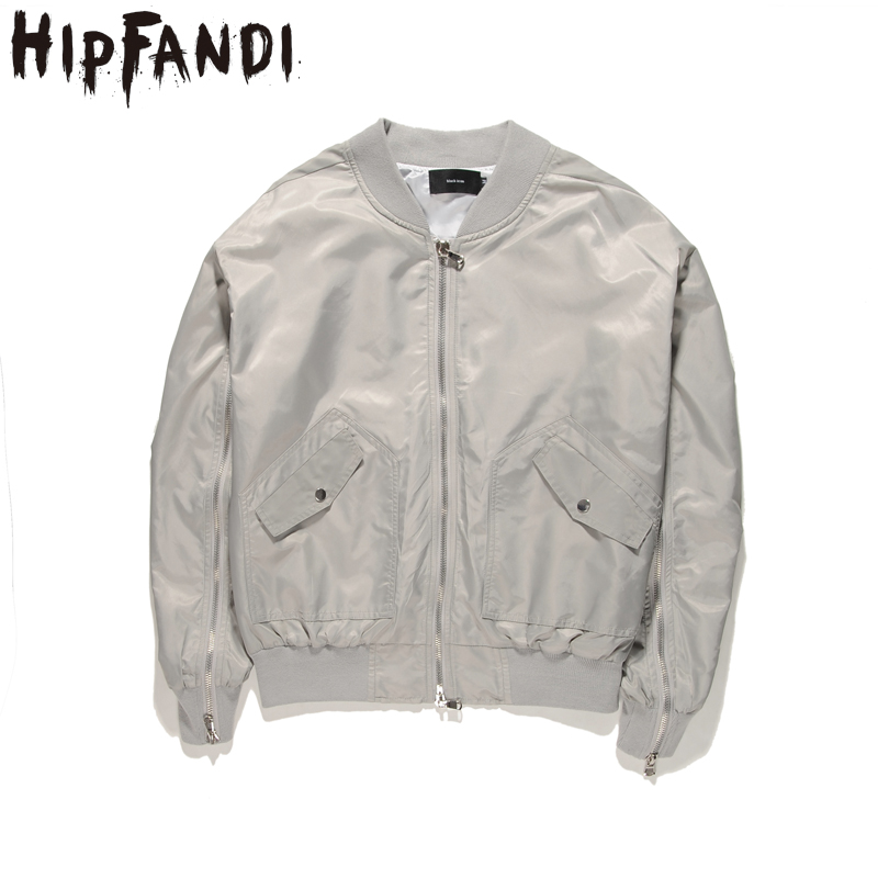 HIPFANDI 2017 New Arrival Autumn Men's Jackets Solid Fashion Coats Male Casual Oversize Stand Collar Bomber Jacket Men Overcoat