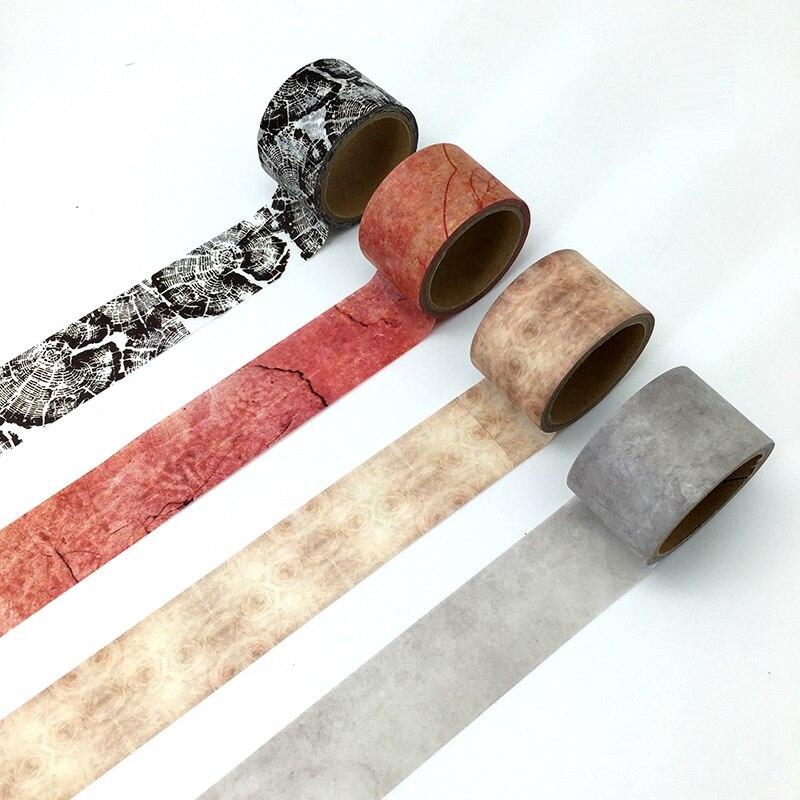 9Designs Brick/WOOD Floor/Vintage Marble/Wall Tiles Japanese Washi Decorative Adhesive DIY Masking Paper Tape Sticker Label Gift