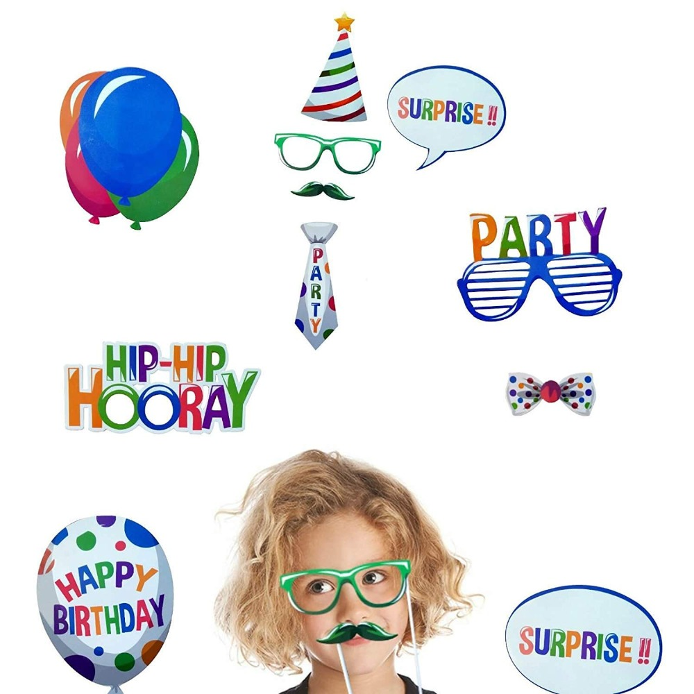 Image 4 - Happy Birthday Photobooth My First Superhero Decoration Kids Baby Boy Girl Adult Sweet 16 Party Decor Mexican Star Supplies-in Banners, Streamers & Confetti from Home & Garden