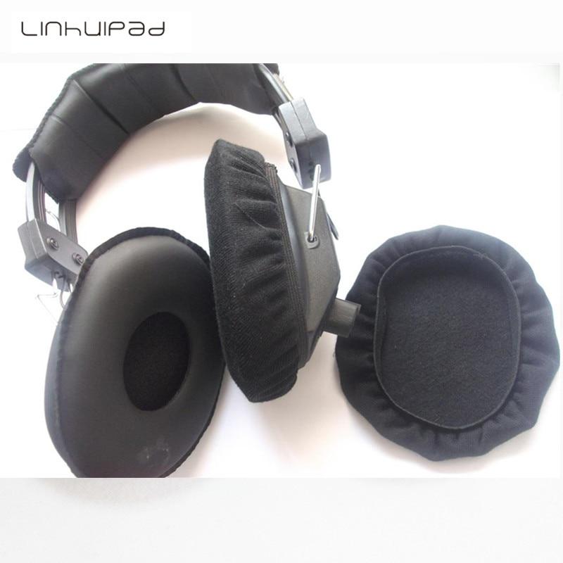 Linhuipad 1000 pcs Lavável reutilizável Sanitária Fone de Ouvido Cobre Bonés de Pano para Fones de Ouvido Da Aviação 10.5 cm de diâmetro em torno de
