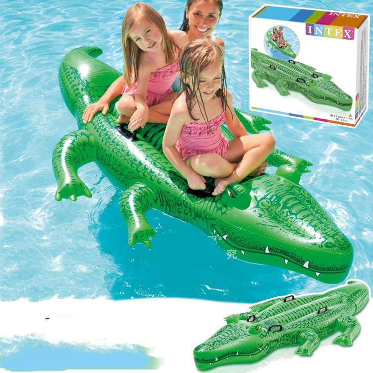 Kingtoy Big Size Large Inflatable Crocodile Pool For 2 Kids Floats Summer Children Pool Toys Water Toys popular best quality large inflatable water slide with pool for kids