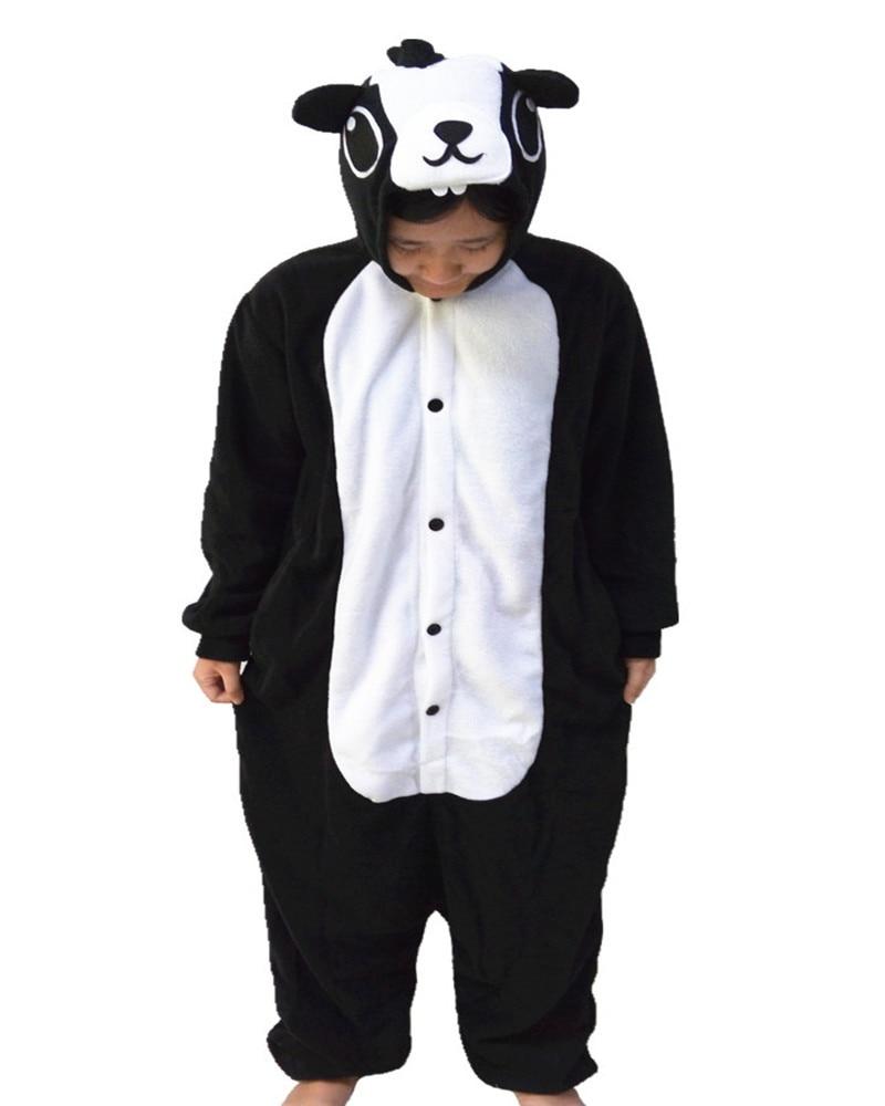 Hot Sales Black Skunk Cute Onesie Cosplay Costumes Novel Party Animal Pajamas Whole Nightgowns Women Sleepwear Long Sleeve Size
