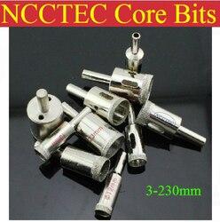 210 мм 8,3 дюйма NCCTEC Гальванические Алмазные коронки сверла ECD210 Бесплатная доставка | мокрое стекло Керамика инструменты для обрезки