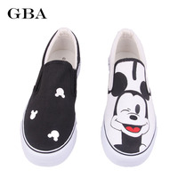 Gba 2017 Autumn Cartoon Anime Women Shoes Hand Painted Canvas Shoes Gg Fashion Rihanna Creepers Doodle