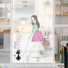 Free Customized Stained Static Cling Window Film Frosted Opaque Privacy Glass Sticker Home Decor Digital print BLT1095 Romantic