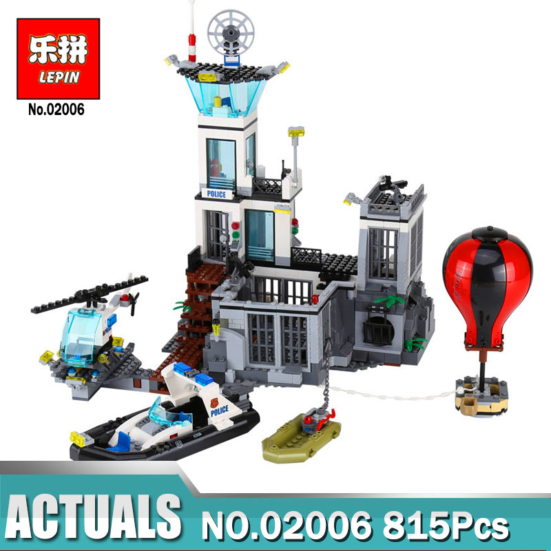 Lepin 02006 City Series Building Toy Compatible Legoing 60130 The Prison Island Toys Building Blocks Gift for Children Gift lepin 02006 815pcs city police series the prison island set building blocks bricks educational toys for children gift legoings