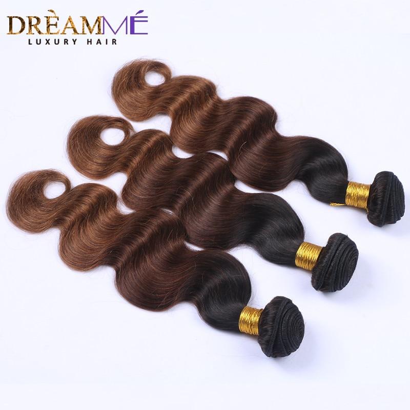 # 1B / 4/30 Barva Body Wave 3 snopi Ombre Brazilski človeški lasje - Človeški lasje (za črne) - Fotografija 2