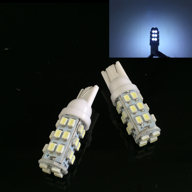 CLEARANCE SALE!10pcs 20SMD WEDGE 1210 LED T10 W5W 20smd 20led car Interior Bulbs white Lamp Car Indicators Light High Quality DV
