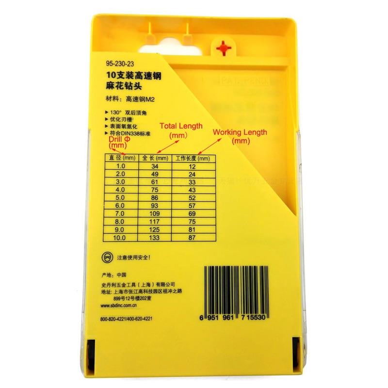 95-230-23 high speed steel twist drill 10pcs des2