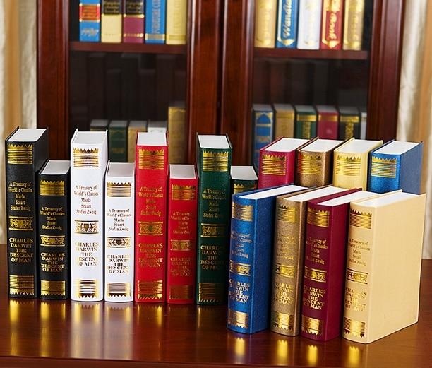 Nep boeken Antieke Boeken Lot van vier, fotografie props boekenkast ...