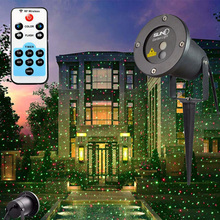 Remote RG Static Star Laser Light Projector Outdoor Waterproof Red Green Xmas Lights Christmas Tree Decoration Lighting for home
