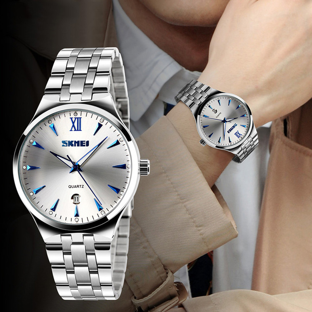 Metal Waterproof Wristwatches for Women with Classic Design