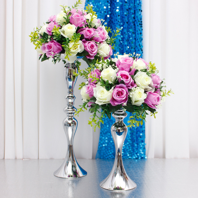 cvijet držač lopte prikaz vjenčani stol središnji ukras - Za blagdane i zabave - Foto 3