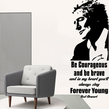 Cartoon Style be brave forever young Nursery Wall Stickers Vinyl Art Decals for Living Room Company School Office Sticker Mural
