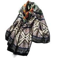 Ethnic Stripe Cashmere Shawl Long Scarf Headband Scarves Girl Woman Multi Function Wholesale Drop Shipping YR25