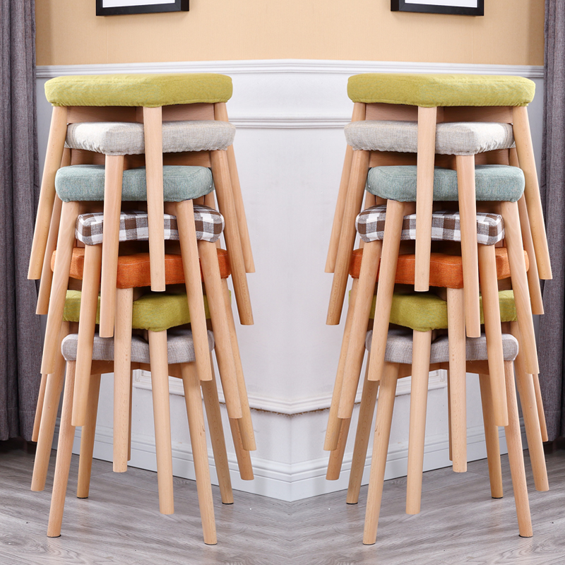 Solid wooden stool home dining chair fashion dressing creative sofa stool small chairSolid wooden stool home dining chair fashion dressing creative sofa stool small chair