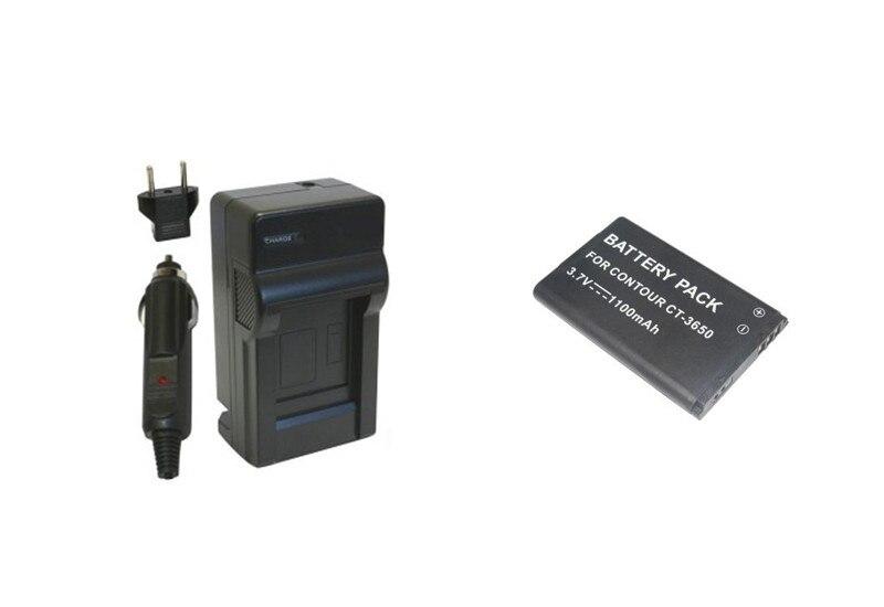 Prix pour CT-3650 CT3650 BL-5C Batterie + Chargeur pour Contour 2350,2450, 2900, C010410K ContourHD, ContourGPS, Contour +, Contour + 2 ContourROAM.
