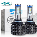 Автомобильные Фары 9005 LED НВ3 Безвентиляторный Дизайн 3 Года Гарантии 6500 К Белый NAO Лампы 50 Вт 6000 Люмен Комплект Освещения Автомобиля # V5